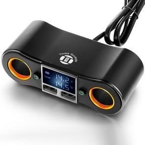 ZNB02 Auto Charger Dual USB Auto sigarettenaansteker (Oranje Licht)