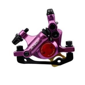 ZOOM HB100 Mountain Bike Hydraulische remklauwklapfietskabel trek hydraulische schijfremklauw  Style:Front(Paars)
