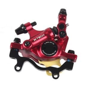 ZOOM HB100 Mountain Bike Hydraulische remklauwklapfietskabel trek hydraulische schijfremklauw  stijl:achterzijde(rood)