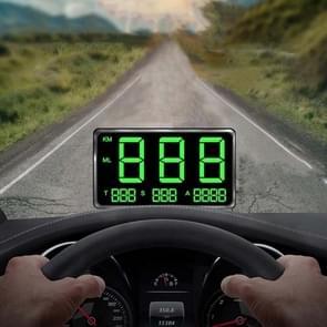 Kingneed C80 4.5inch HUD Car Head-up Display GPS Speed Meter Overspeed Alarm Mileage Altitude Clock (Zwart)