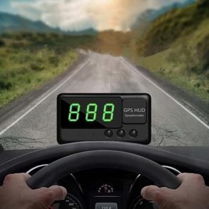 Kingneed C60 3inch Auto HUD Head-up Display Auto Snelheid Meter Universal Projection GPS Satelliet Snelheid Meting (Zwart)