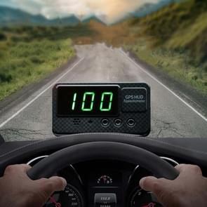 Kingneed C60S 3inch Auto HUD Head-up Display Car Universal GPS Satellite Snelheidsmeter Snelheidsalarm / GPS Satelliet Snelheid Meting (Zwart)