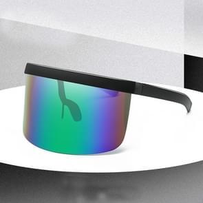 Large Frame Full Protection Outdoor Boy & Girl Zonnebrillen UV-proof Baby zonnebrillen  Frame kleur: Black Frame Green Film