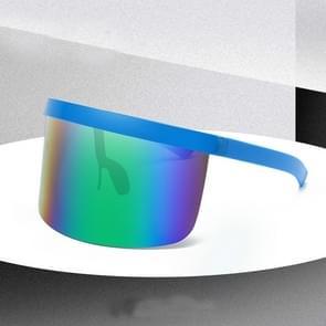 Large Frame Full Protection Outdoor Boy & Girl Zonnebrillen UV-proof Baby zonnebrillen  Frame kleur: Blue Frame Green Film