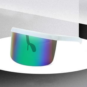 Large Frame Full Protection Outdoor Boy & Girl Zonnebrillen UV-proof Baby zonnebrillen  Frame kleur: White Frame Green Film