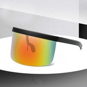 Large Frame Full Protection Outdoor Boy & Girl Zonnebrillen UV-proof Baby zonnebrillen  Frame kleur: Black Frame Rainbow Film