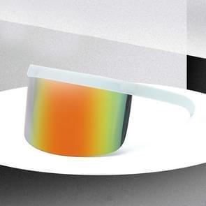 Large Frame Full Protection Outdoor Boy & Girl Zonnebrillen UV-proof Baby zonnebrillen  Frame kleur: White Frame Rainbow Film