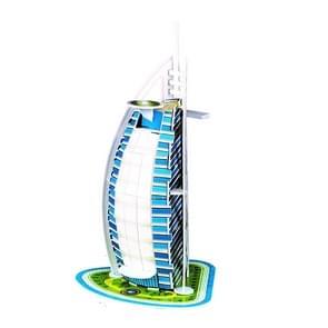 3 PCS 3D Puzzel Mini World Building Model Kinderen Assembleren intellectuele speelgoed (Burj Al Arab)