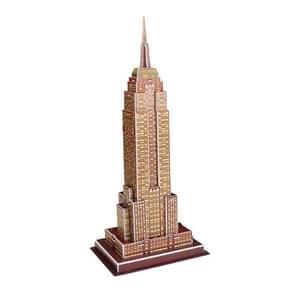 3 PCS 3D Puzzel Mini World Building Model Kinderen assembleren intellectuele speelgoed (Empire State Building)