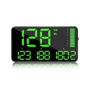 Kingneed C90 5.5inch HUD Car Head-up Display GPS Auto Universal Mileage Speeding Alarm / GPS Satellite Speed Measurement(Zwart)