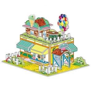 4 PCS 3D Puzzel Speelgoed DIY intellectuele ontwikkeling puzzel (1890-B)