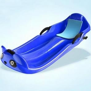 Grass Board Aadult Verhoging Verdikking Kinderen Snowboard Sand Board Sled Car Ski Car Fineer  Grootte: 100 x 43 x 29cm(Blauw)