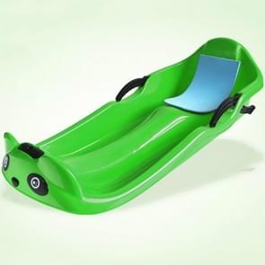 Grass Board Aadult Verhoging Verdikking Kinderen Snowboard Sand Board Sled Car Ski Car Fineer  Grootte: 100 x 43 x 29cm(Groen)
