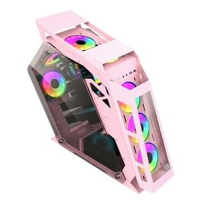 Computer Main Case Gaming Internet Cafe Computer Case  Kleur: Big Coffee Pink
