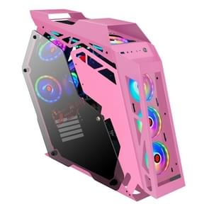 Computer Main Case Gaming Internet Cafe Computer Case  Kleur: Big Coffee Plus Pink