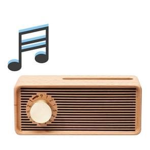 Retro Music Box Mobiele Telefoon Houder Creative Loudspeaker  Style: Meet (Beech)