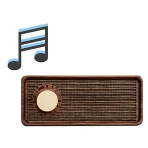 Retro Music Box Mobiele Telefoon Houder Creative Loudspeaker  Style: Sky City (Zwarte Walnoot )