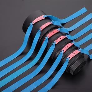 10 PCS Long Pull Model Prey Flat Rubber Band Speciale Saspi Katapult accessoires  kleur: dikte 0 8 mm blauw