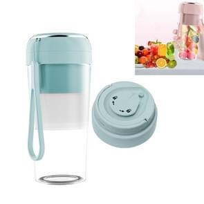 Elektrische kleine juicer Draagbare USB Home Mini Juice Cup  Stijl: Met Vacuüm Deksel (Lichtblauw)