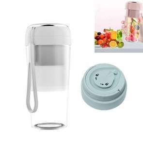 Elektrische kleine juicer Draagbare USB Home Mini Juice Cup  Stijl: Met Vacuüm Deksel (Wit)