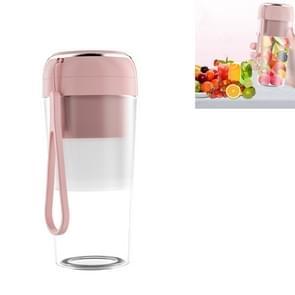 Elektrische kleine juicer Draagbare USB Home Mini Juice Cup  Stijl: Zonder Vacuüm Deksel (Roze)