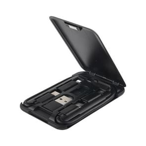 Data Cable Card Storage Box met Mobile Phone Holder & Card Picking Pin(Black)