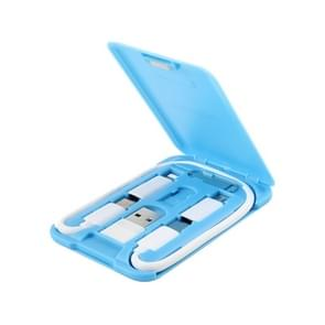 Data Cable Card Storage Box met Mobile Phone Holder & Card Picking Pin(Blue)