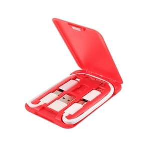 Data Cable Card Storage Box met Mobile Phone Holder & Card Picking Pin(Red)