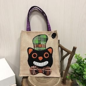 3 PCS Halloween Decoratie Benodigdheden Tote Bag Mall Hotel Koekjes Apple Gift Bag (Black Cat)