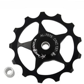 4 PCS MEROCA Metalen lagers Mountainbike Racefiets achter derailleur geleidewiel 11T/13T Geleidewiel  Specificatie:13T  Kleur:Zwart