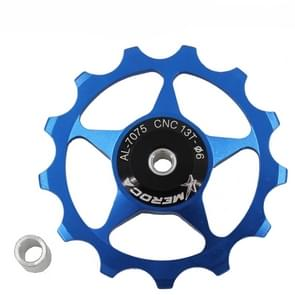 4 PCS MEROCA Metalen lagers Mountainbike Racefiets achter derailleur geleidewiel 11T/13T Geleidewiel  Specificatie:13T  Kleur:Blauw
