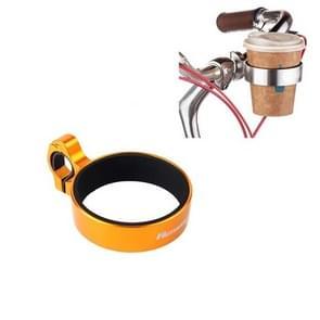 Fiets fiets koffiebeker houder melkthee bekerhouder aluminium legering fleshouder (geel)