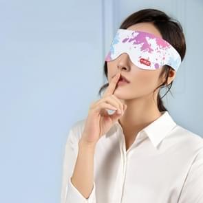Elektrische verwarming Eye Protection Device te verlichten Oogvermoeiding Massage Apparaat Arcering Slaap Hot Compress Eye Mask  Style: DC Mouth (Splash Inkt)