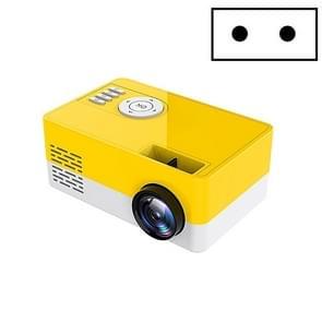 S261/J16 Home Mini HD 1080P Draagbare LED-projector  ondersteuning TF-kaart / AV / U-schijf  stekkerspecificatie:EU-stekker(geel wit)