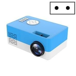 S261/J16 Home Mini HD 1080P Draagbare LED-projector  ondersteuning TF-kaart / AV / U-schijf  stekkerspecificatie:EU-stekker(blauw wit)