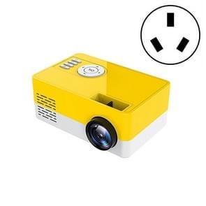 S261/J16 Home Mini HD 1080P Draagbare LED-projector  ondersteuning TF-kaart / AV / U-schijf  stekkerspecificatie:AU-stekker(geel wit)