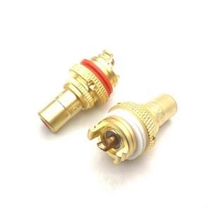 4 PCS / 2 paren CMC Koper RCA Vrouwelijke Audio Eindversterker AV Audio Lotus Socket Terminal (Zand Verguld)