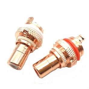 4 PCS / 2 paren CMC Koper RCA Vrouwelijke Audio Eindversterker AV Audio Lotus Socket Terminal (Koperen Plated)