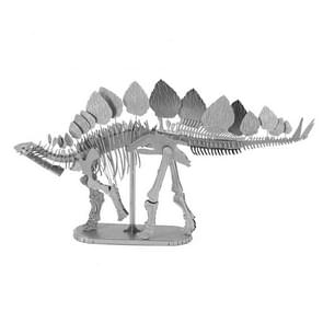 3D Metal Assembly Model DIY Puzzel Dinosaur Model  Style: Stegosaurus Skeleton (Zilver)