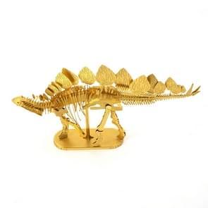 3D Metal Assembly Model DIY Puzzel Dinosaur Model  Style: Stegosaurus Skeleton (Goud)