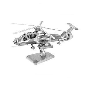 3 PCS 3D Metal Assembly Model DIY Puzzel  Stijl: RAH-66 Helikopter