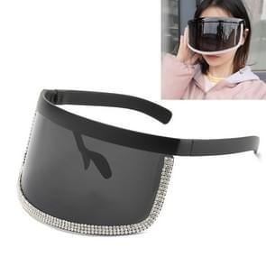Diamond Anti-glurenzonspiegel geïntegreerde anti-schuim zonnebrandcrème bril (Helder Zwart Frame)