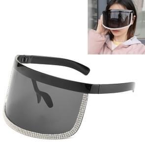 Diamond Anti-glurenzonspiegel geïntegreerde anti-schuim zonnebrandcrème bril (Zand Zwart Frame)