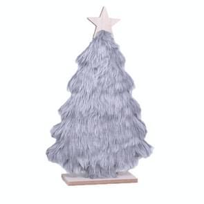 Houten Pluche Kerstboom winkel Restaurant Kerstversiering Tafelblad Layout (Grijs )