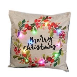 Christmas Series LED Sofa Pillow Pillow Cover kussenslopen zonder kussen kern (kerstbrief)