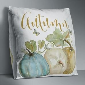 2 PCS Halloween Pumpkin Short Pluche Super Soft Pillowcase Decoration zonder Pillow Core (Pumpkin+English)