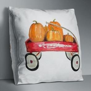 2 PCS Halloween Pumpkin Short Pluche Super Soft Pillowcase Decoratie zonder Pillow Core (Pumpkin Trolley)