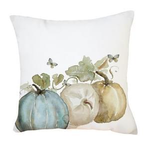 2 PCS Halloween Pumpkin Short Pluche Super Soft Pillowcase Decoration zonder Pillow Core (Drie Pompoenen)