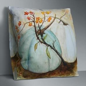 2 PCS Halloween Pumpkin Short Pluche Super Soft Pillowcase Decoration zonder Pillow Core (Pumpkin+Branch)