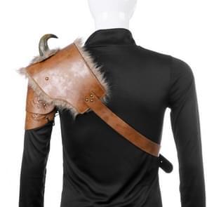 Halloween Carnaval PU Leer Volwassen Mannen Middeleeuwse Viking Armor Schouder Armor  Grootte: One Size (Rechts)